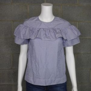 J Crew Edie Top in Shirting Stripe Size 00